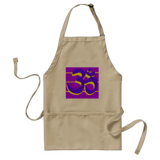 delantal púrpura de OM
