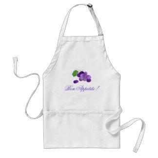 Delantal púrpura del apetito del Bon de las uvas