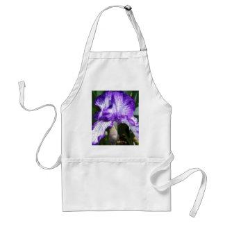 Delantal púrpura del iris