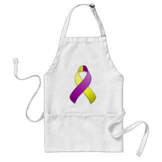 Delantal púrpura y amarillo de la cinta de la conc