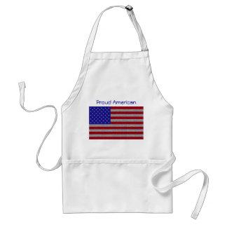 Delantal reluciente de la bandera americana
