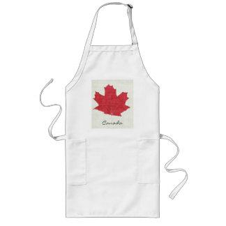 Delantal rojo canadiense de la hoja de arce