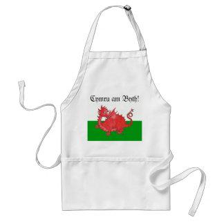 Delantal rojo lindo adaptable del dragón Galés