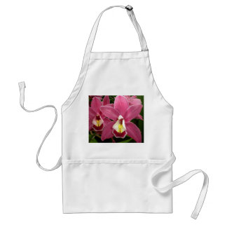 Delantal rosado de la orquídea