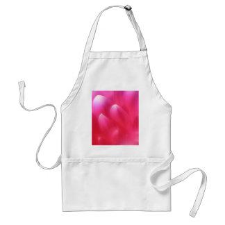 Delantal rosado de los pétalos