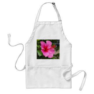 Delantal rosado del hibisco