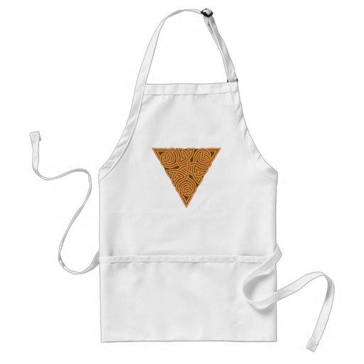 Delantal rústico del nudo del triángulo