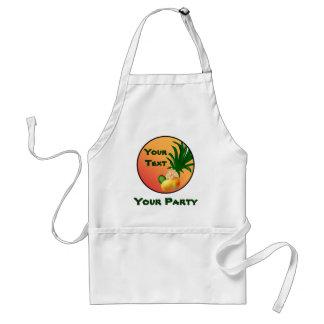 Delantal tropical de la comida del fiesta