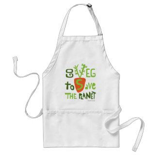 Delantal vegetariano del diseño del texto del vega