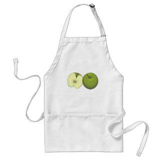 Delantal verde de las manzanas
