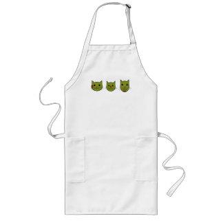 Delantal verde oliva de los gatitos