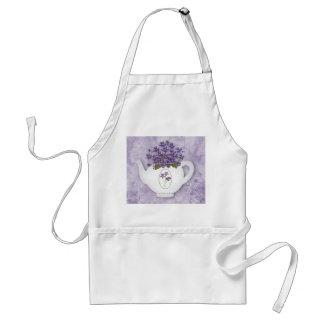 Delantal violeta de la tetera