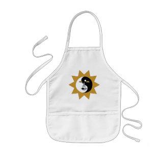 delantal ying del sol de yang