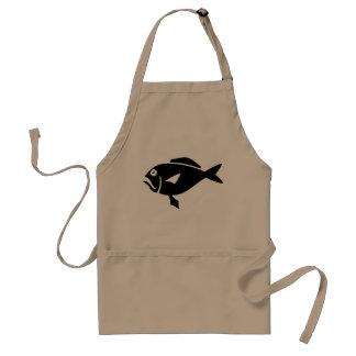 Delantales de los pescados para el beige de los ho