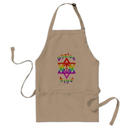 Delantales de Shalom del arco iris
