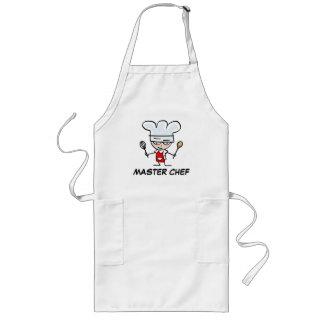 Delantales del maestro cocinero