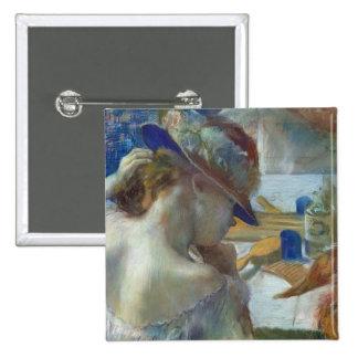 Delante del espejo, 1889 pin cuadrada 5 cm