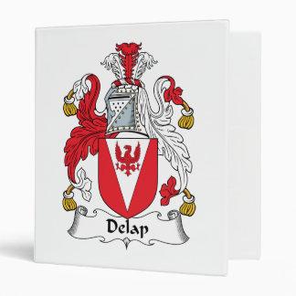 Delap Family Crest 3 Ring Binders