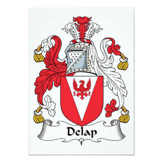 Delap Family Crest 5x7 Paper Invitation Card