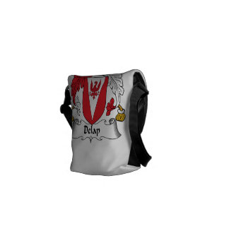Delap Family Crest Courier Bags