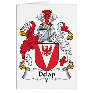 Delap Family Crest Greeting Card
