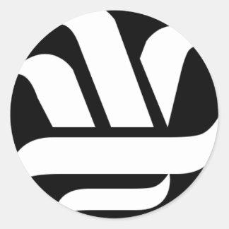 Delason Knowledge (black on white) Classic Round Sticker