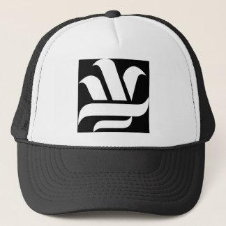 Delason Knowledge (black on white) Trucker Hat