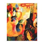 Delaunay - Sun, Tower, Airplane Canvas Print