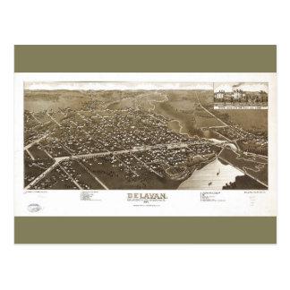 Delavan, Walworth County, Wisconsin (1884) Postcard