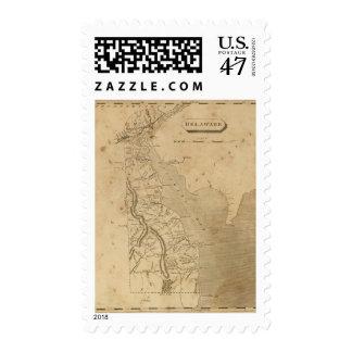 Delaware 3 postage stamp