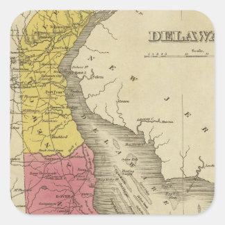 Delaware 4 square sticker