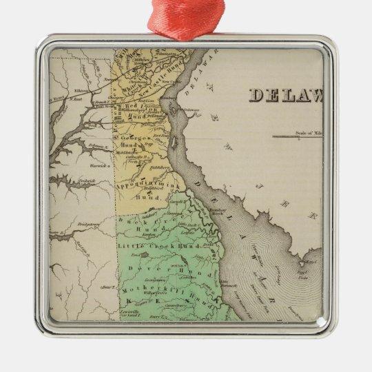 Delaware 6 metal ornament