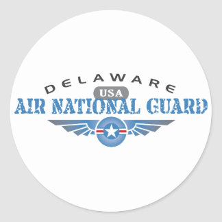 Delaware Air National Guard Classic Round Sticker