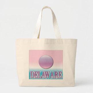 Delaware Airbrush Sunset Large Tote Bag