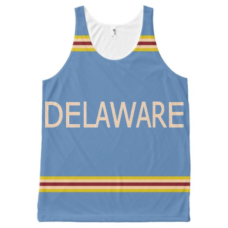 Delaware All-Over Printed Unisex Tank