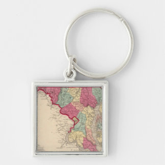 Delaware and Maryland Keychain