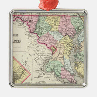 Delaware And Maryland with District of Columbia Metal Ornament