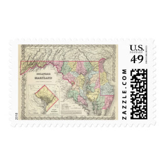 Delaware And Maryland with District of Columbia Postage Stamps