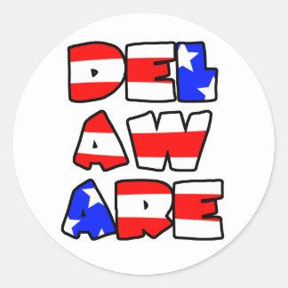 Delaware apiló - al pegatina