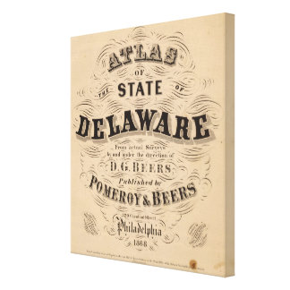Delaware Atlas Canvas Prints