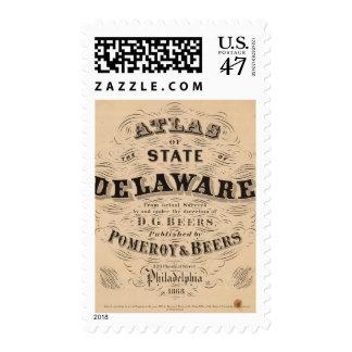 Delaware Atlas Postage Stamp