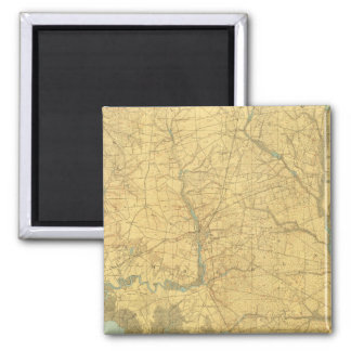 Delaware Bay, New Jersey 2 Inch Square Magnet