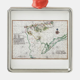 Delaware Bay Zwaanendael Swanendael Map 1639 Christmas Ornaments