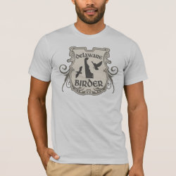 Men's Basic American Apparel T-Shirt with Delaware Birder design