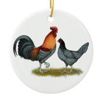 Delaware Blue Hen Ceramic Ornament