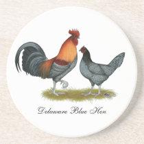 Delaware Blue Hen Coaster