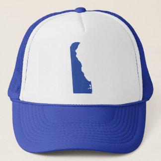 Delaware Blue State Snap Back Mesh Trucker Hat