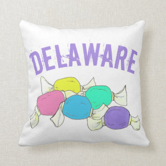 Delaware Boardwalk Salt Water Taffy Candy Beach DE Throw Pillow