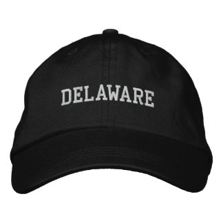 Delaware bordó negro ajustable del casquillo gorras bordadas