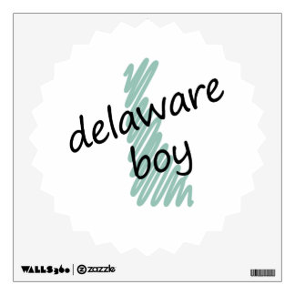 Delaware Boy on Child's Delaware Map Drawing Wall Decal